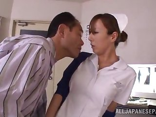 japanese nurse is fucked silly by a horny old patient