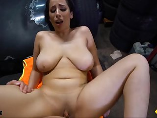 roadside - horny roadside assistance fucks busty latina