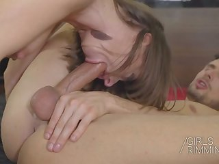 hot anal rimming with sexy brunette sandra wellness