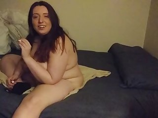 fat jenn shows off her wringing wet body and huge  saggy boobs