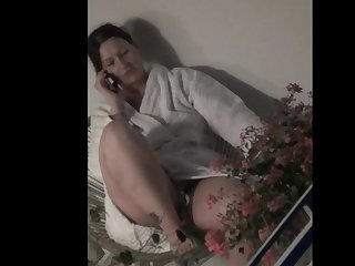 spy bbw milf after watch wank flash within reach the balcony(part2)
