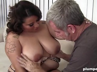 fat slut can't obtain enough be advisable for grandpa's cock